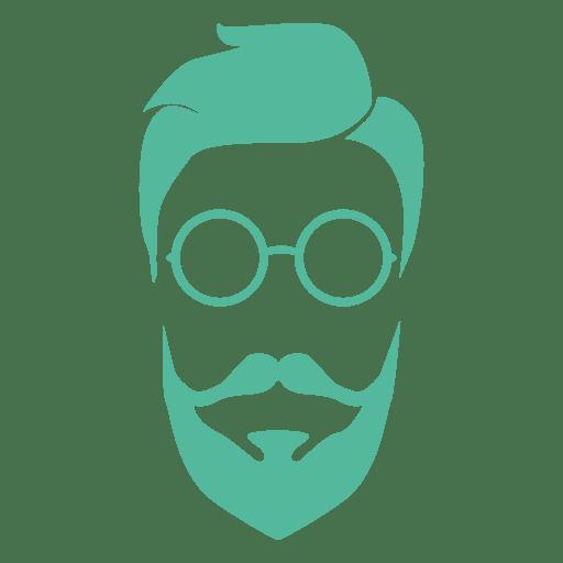 Barba de hombre verde hipster