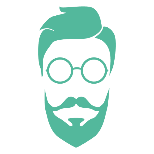 Barba de hombre verde inconformista Transparent PNG