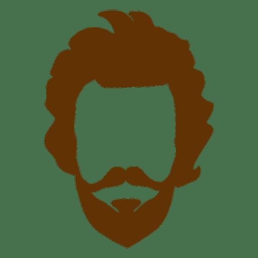 Hipster man beard retro Transparent PNG