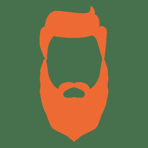 Silueta de barba de hombre hipster