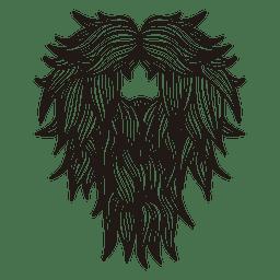 Hombre inconformista bigote barba