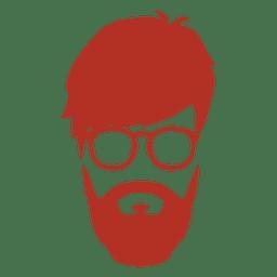 Silhueta de homem hipster