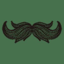 Ilustración de bigote inconformista