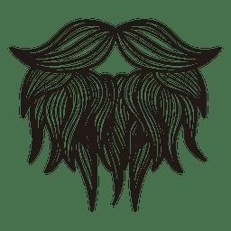 Hipster moustache beard