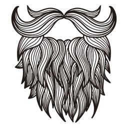 Illustrated hipster moustache beard