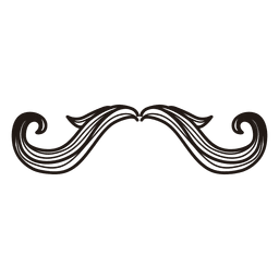 Hipster moustache hand drawn