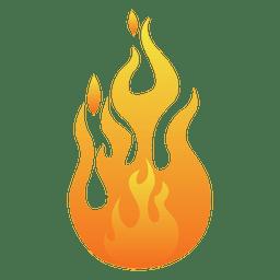 Ilustración de dibujos animados de llama naranja
