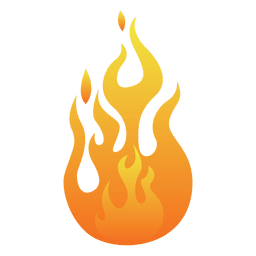 Orange flame cartoon illustration