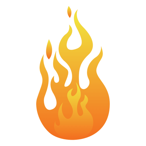 Orange flame cartoon illustration