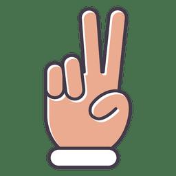 dedos de la paz mano