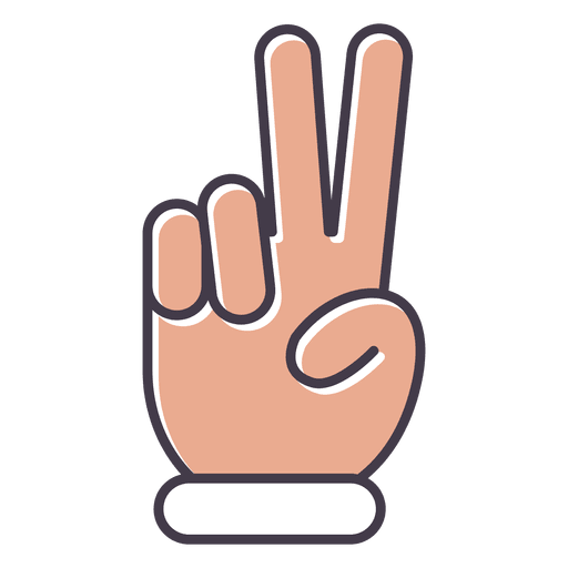 Frieden Finger Hand Transparent PNG