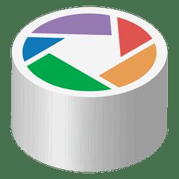 Picasa isometric icon