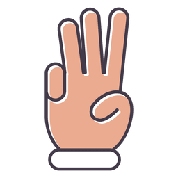 Three fingers hand