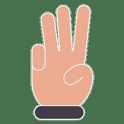 Três dedos mão