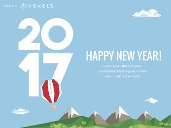 2017 fabricante de carteles de celebración de Año Nuevo