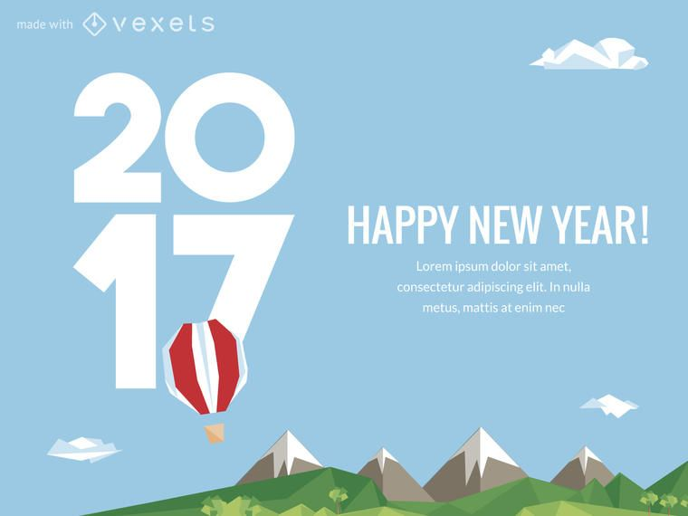 2017 New Year poster maker