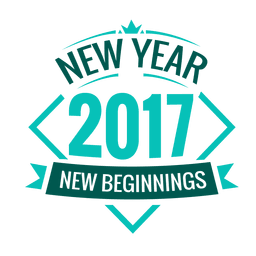 2017 new year badge label