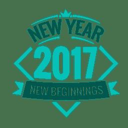 Distintivo de ano novo de 2017