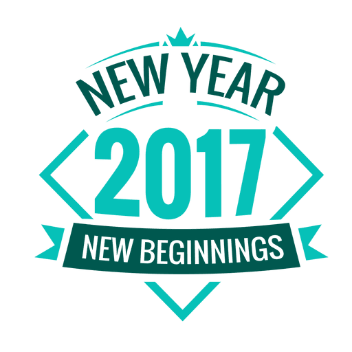 2017 new year badge Transparent PNG