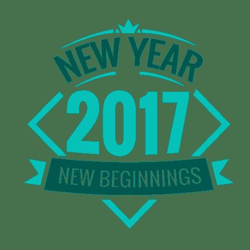 Insignia de año nuevo 2017