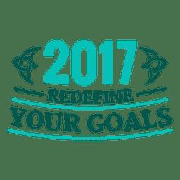 Rótulo de distintivo de ano novo de 2017