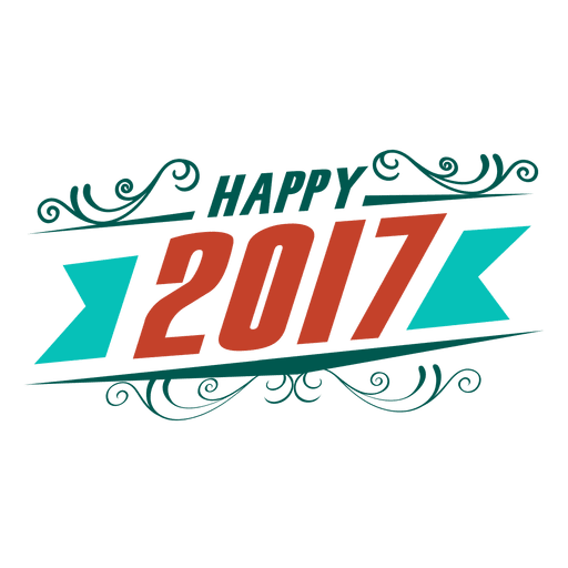Happy 2017 new year badge label - Transparent PNG & SVG ...