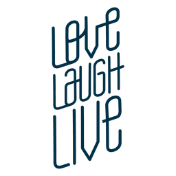 Love laugh live badge