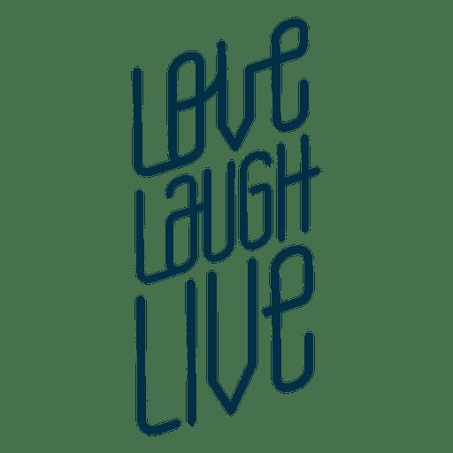 Love Laugh Live Badge Transparent Png Svg Vector File