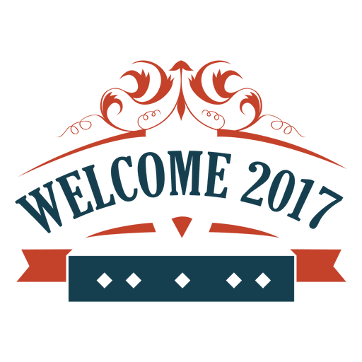 Welcome 2017 new year badge label Transparent PNG