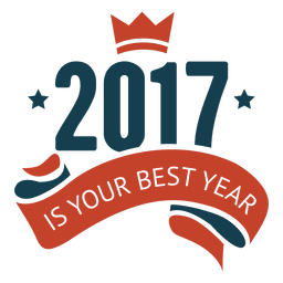 2017 Best new year badge label