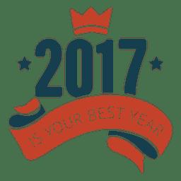 2017 bestes neues Jahr Abzeichen Label