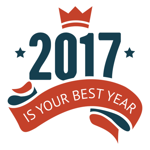 2017 Best new year badge label Transparent PNG