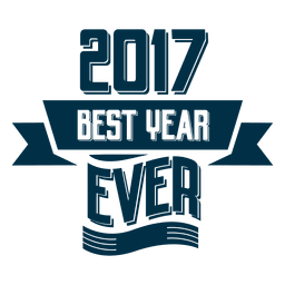 2017 Best year ever badge label