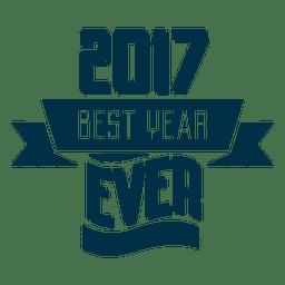2017 bestes Jahr Abzeichen Label