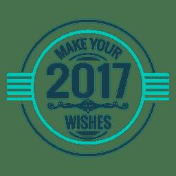 2017 deseja etiqueta do crachá de ano novo