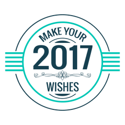 2017 wishes new year badge label