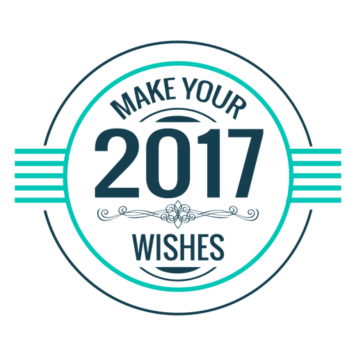 2017 wishes new year badge label Transparent PNG