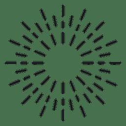 Redondo abstracto rayado starburst