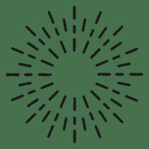Abstrakt rund gezeichnetes Starburst Transparent PNG