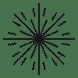 Abstrakte flache runde gezeichnete Starburst