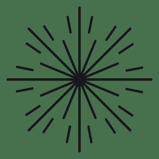 Abstrakte flache runde gezeichnete Starburst Transparent PNG