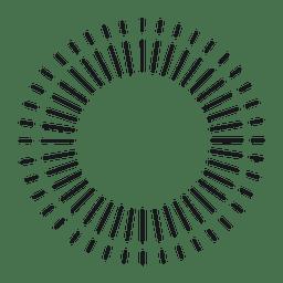 Abstraktes rundes dünnes gezeichnetes starburst Feld