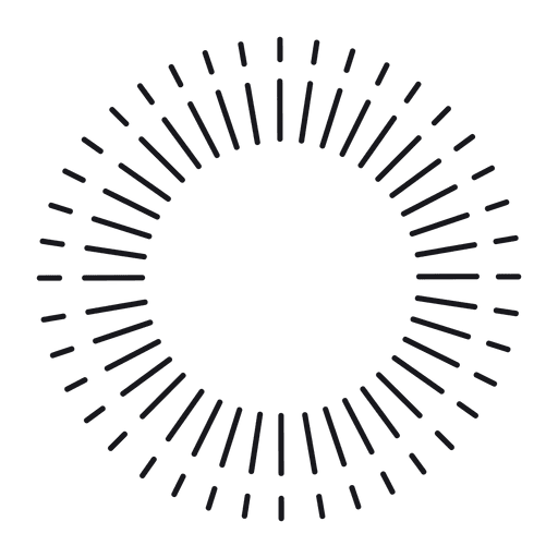 Abstract round thin lined starburst frame Transparent PNG