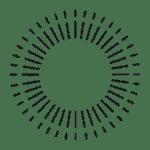Quadro redondo abstrato starburst forrado fino Transparent PNG