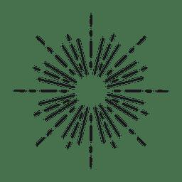 Auszug gezeichnetes starburst