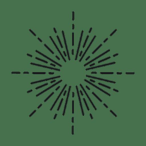 Starburst rayado abstracto Transparent PNG