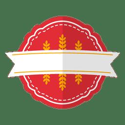 Badge emblem ribbon