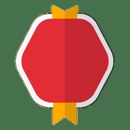 Badge flat emblem