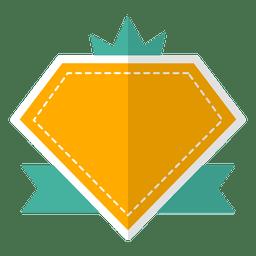 Fita da etiqueta do emblema liso
