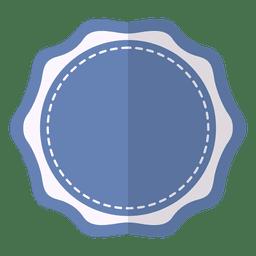 Fita de rótulo de distintivo delicado azul